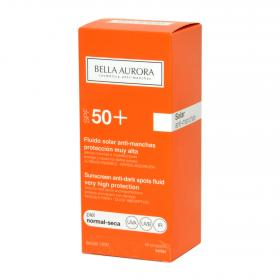 Bella Aurora fluido solar antimanchas fp 50 piel normal seca de 50ml.