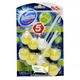 Domestos limpiador wc bloque power 5 limon por 2 unidades
