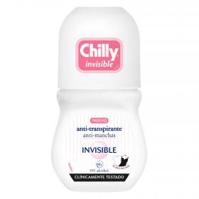 Chilly desodorante roll on invisible 24h 0% alcohol de 50ml.