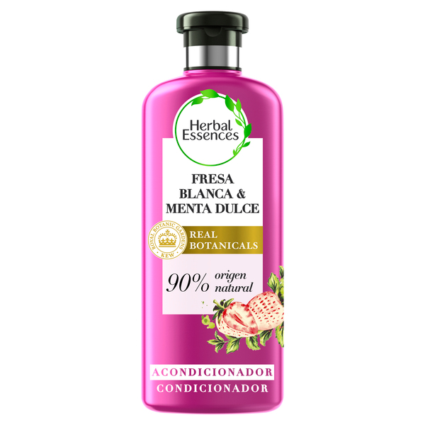 Herbal Essences acondicionador purificante fresa blanca & menta dulce bio:renew de 40cl.