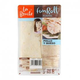 La Broche flauta pollo queso de 260g.