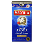 Marcilla cafe molido descafeinado natural de 250g.