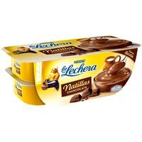 La Lechera natillas chocolate de 115g. por 4 unidades