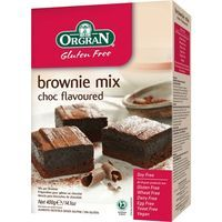 Orgran bownie mix chocolate de 400g. en caja