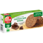 Cereal bio galletas con chocolate negro intenso ecológicas envase de 132g.