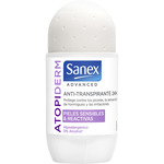 Sanex advanced desodorante roll on atopiderm pieles sensibles con tendencia atopica envase antitranspirante 24h de 50ml.