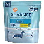 Advance mini light alimento completo perros raza mini con pollo arroz de 800g. en bolsa