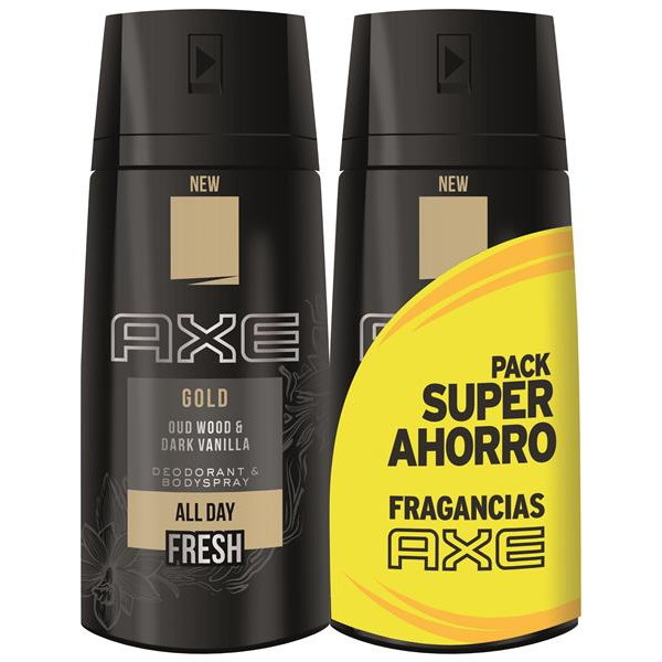 Axe desodorante gold pack ahorro de 15cl. en spray