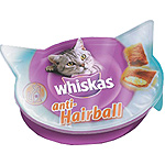 Whiskas antihairball snacks gato de 60g. en tarrina