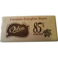 Orbea chocolate negro 85 % cacao tableta de 125g.