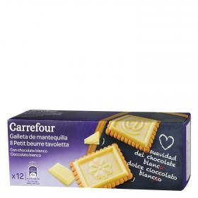 Carrefour galleta tableta chocolate blanco de 150g.