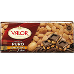 Valor chocolate puro con almendras tableta de 250g.