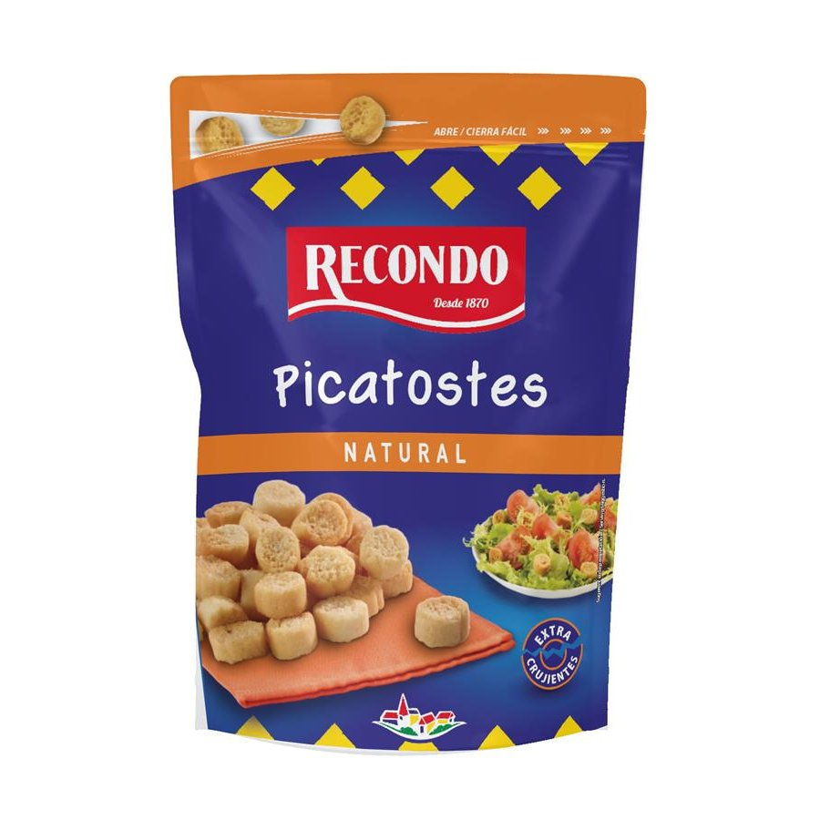 Recondo picatostes natural de 80g.