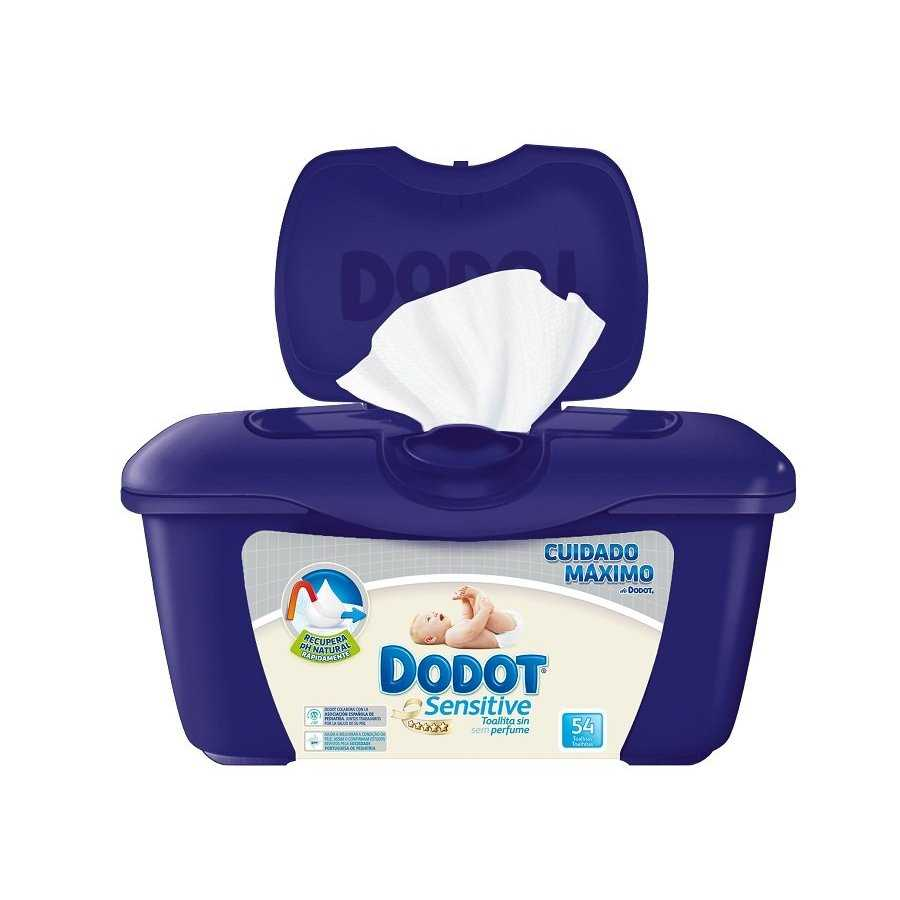 Dodot toallitas sensitive 54 en caja