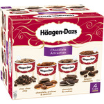 Häagen Dazs chocolate attraction s helado sabores chocolate estuche de 40cl. por 4 unidades en tarrina