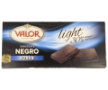 Valor chocolate negro suave light tableta de 100g.