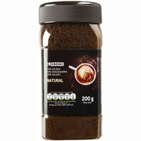 Eroski cafe soluble natural de 200g. en bote