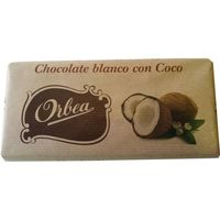 Orbea chocolate blanco con coco tableta de 125g.