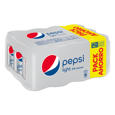 Pepsi light de 33cl. por 12 unidades en lata