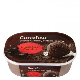 Carrefour helado chocolate de 1l.