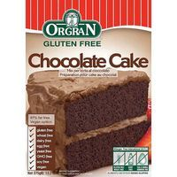 Orgran chocolate cake mix de 375g. en caja