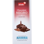 Aliada chocolate negro tableta de 125g.