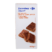 Carrefour chocolate crujiente de 100g.