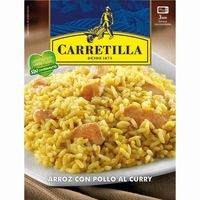 Carretilla arroz al curry de 300g. en bandeja