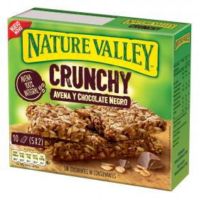 Nature Valley barrita avena chocolate negro por 10 unidades