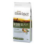 True Instinct no grain alimento cachorros raza media maxi con salmon envase de 12kg.