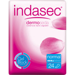 Indasec compresa incontinencia dermo seda normal 24