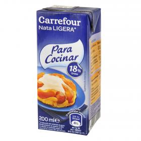 Carrefour Discount nata cocinar 18% mg de 20cl.