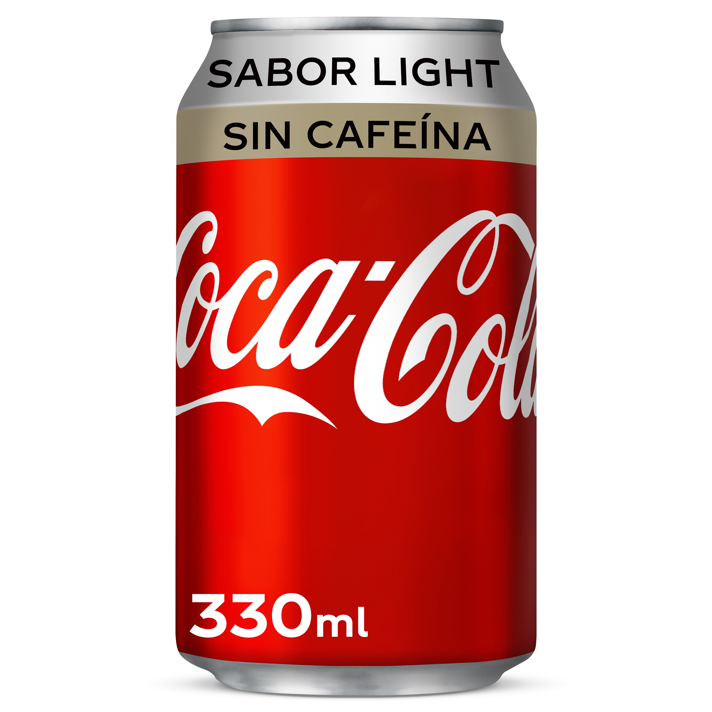 Coca Cola light refresco sin cafeina de 33cl. en lata