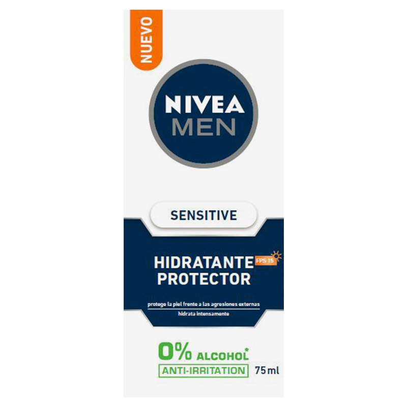 Crema hidratante sensitive hombre de 75ml.