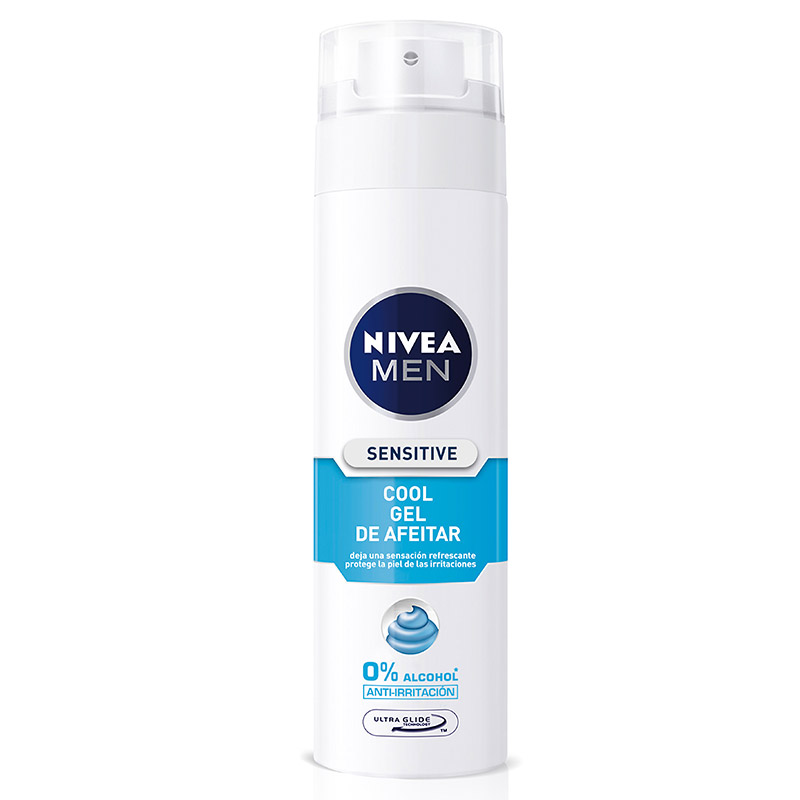 Nivea Men hombre gel afeitar sensitive cool sin alcohol de 20cl. en spray