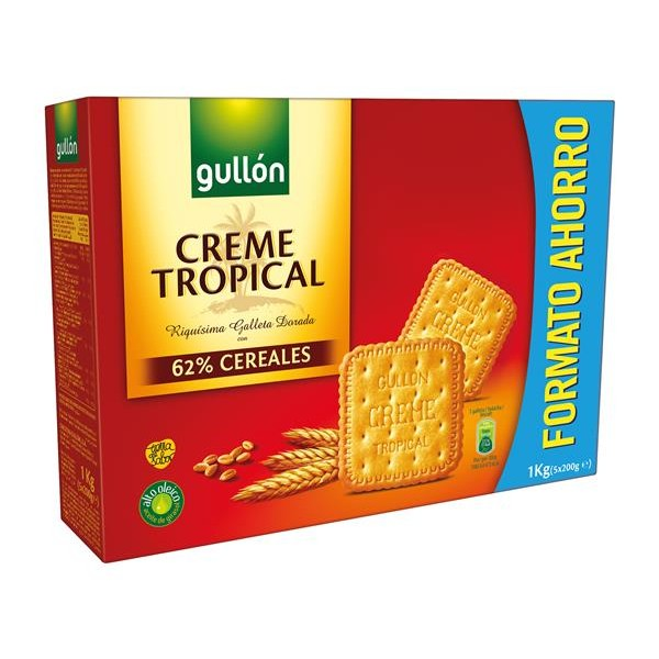 Creme Tropical Gullón galletas creme tropical gullon de 1kg.
