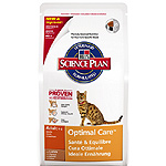 Hill's Science plan adult optimal care alimento especial gatos adultos con cordero un cuidado optimo de 2kg. en bolsa
