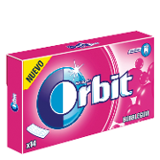 Orbit chicles bubblegum sin azucar