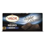 Valor chocolate negro light de 100g.