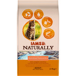 Iams naturally alimento gatos adultos con salmon arroz envase de 2,7kg.