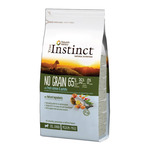 True Instinct no grain alimento cachorros raza media maxi con salmon envase de 600g.