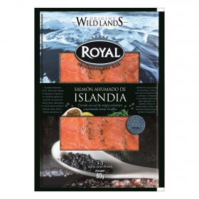 Royal salmon ahumado marinado de 80g.