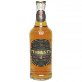 Tennents cerveza con whisky oak de 33cl.