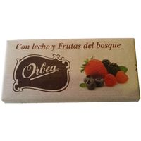 Orbea chocolate con leche frutas del bosque tableta de 125g.