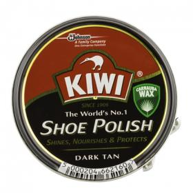 Kiwi crema calzado color marron oscuro de 50ml.
