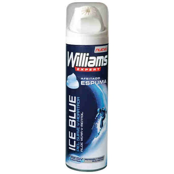 Williams espuma afeitar ice blue de 25cl. en spray