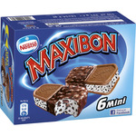 Maxibon nestle mini sandwich con helado nata galleta trocitos chocolate estuche de 51cl. por 6 unidades