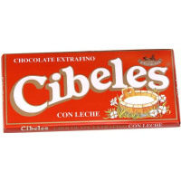 Cibeles chocolate con leche tableta de 125g.