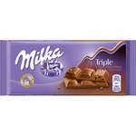 Milka chocolate triple sabor chocolate tableta de 90g.