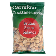 Carrefour cocktail especial frutos secos salados de 180g.